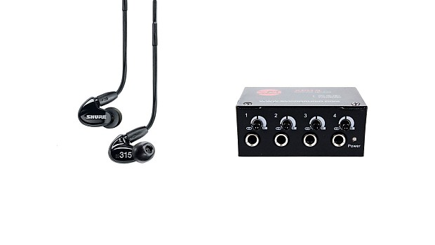 3f5a7955f5f Shure SE315-K Black Earphones w/ SM Pro Audio XPH4 Headphone | Reverb