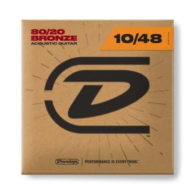 Dunlop 80/20 Bronze Acoustic Guitar Strings - 10-48
