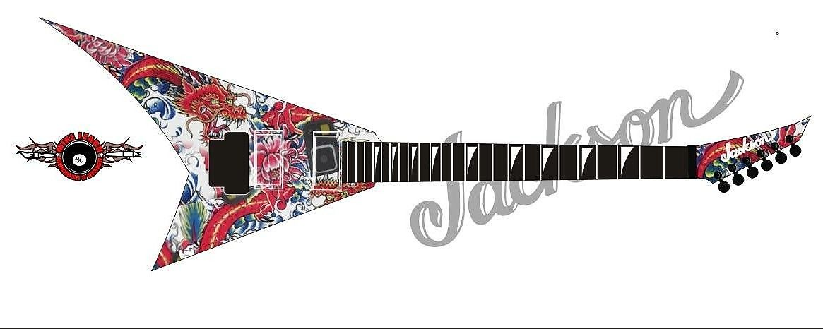 Jackson USA Custom Shop - Red Dragon Guitars x Mike Learn Exclusive Oriental Dragon Rhoads