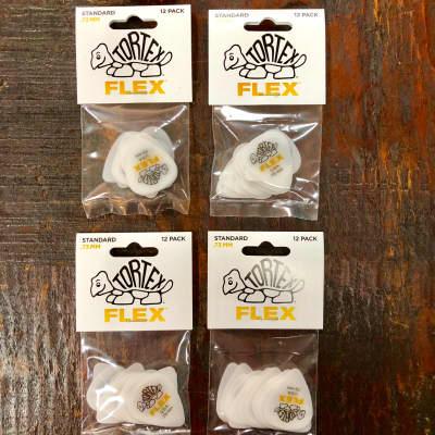 Dunlop Tortex Flex Standard 428P.73 .73mm 4 x 12 Pack Yellow