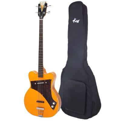 """Demo Kay Reissue """"Limited Production"""" Jazz Special Bass Guitar with 20mm Padded Gig Bag (Blonde) for sale"""