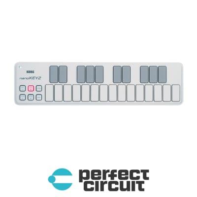 Korg NanoKey2 Slim-Line USB MIDI Controller (WHITE)