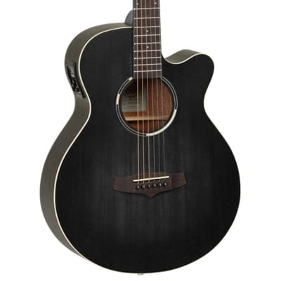 Tanglewood Blackbird Series TWBBSFCE - Smokestack Black Satin for sale