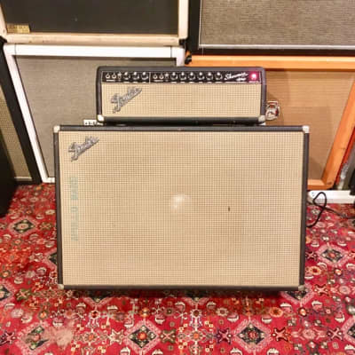 Fender Showman Amp c 1965 1966 Blackface original vintage usa jbl d140-f tone ring cabinet cab cbs amplifier piggyback