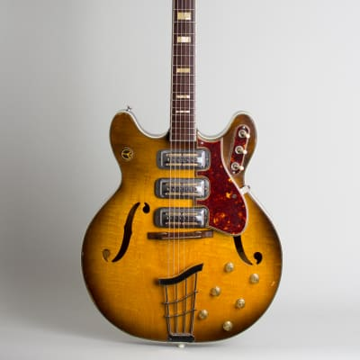 Harmony  H-75 Thinline Hollow Body Electric Guitar (1960), ser. #467H75, original two-tone hard shell case. for sale