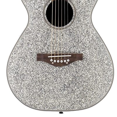 Daisy Rock 6 String Acoustic Guitar, Silver Sparkle for sale