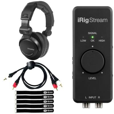 iRig DJ Live Stream USB Audio Interface for iOS/Android/MAC/PC w Headphone