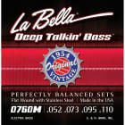 La Bella 0760M Deep Talkin Bass Guitar Strings Flat Wound 1954 Original 52-110 image