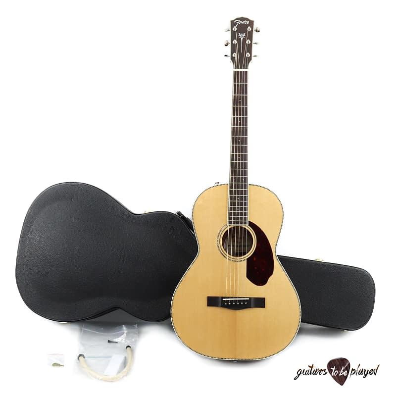 Fender Paramount PM-2 Standard Parlor Acoustic/Electric Guitar w/ Case - Natural image
