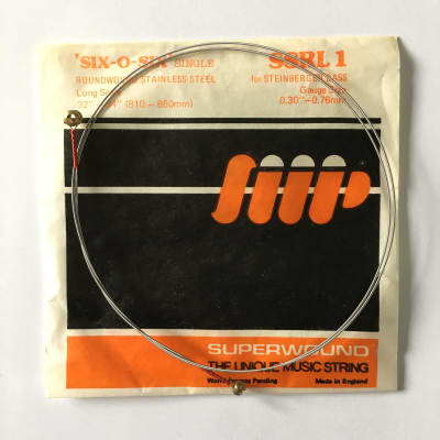 """Superwound Vintage NOS six-o-six SSRL1 Bass String For Steinberger 0.30"""" 80's"""