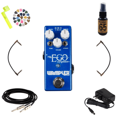 New Wampler Mini Ego Guitar Compressor Effects Pedal - Free Stuff*
