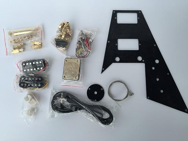 do it yourself diy electric guitar kit flying v guitar kit reverb. Black Bedroom Furniture Sets. Home Design Ideas