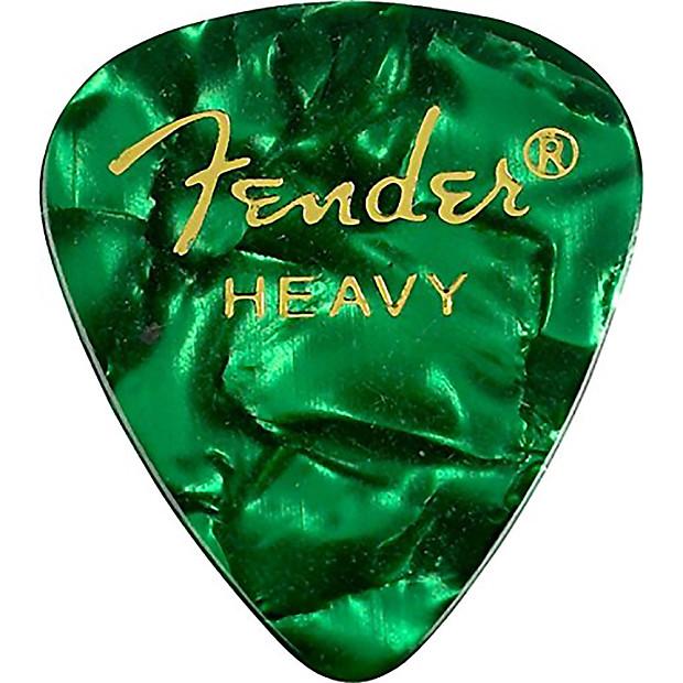 Fender 351 Shape Premium Picks (12-Pack) - Green Moto