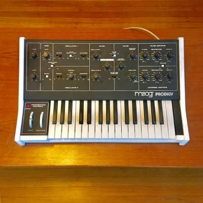 Moog Prodigy c 1980  White original vintage analog synthesizer synth USA