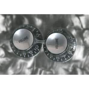 Allparts PK-0184-023 Reflector Cap Knobs (2)