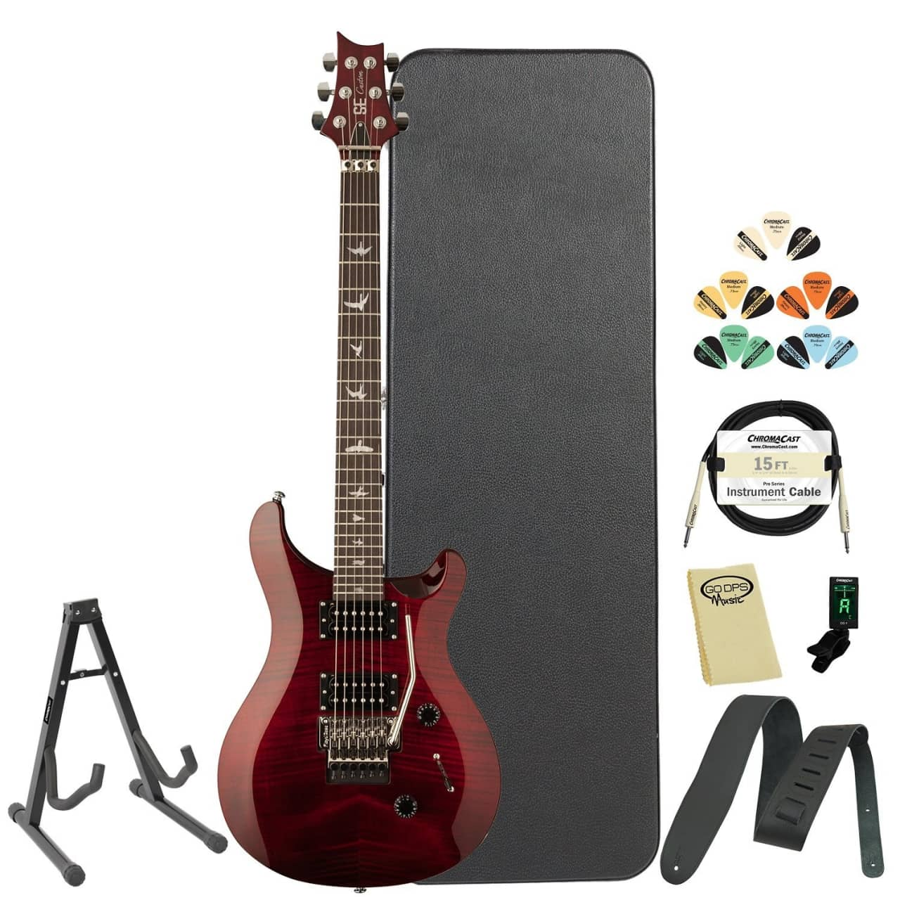 paul reed smith se custom 24 prs floyd rose scarlet red w reverb. Black Bedroom Furniture Sets. Home Design Ideas
