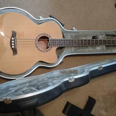 Jay Turser JTAB-650 Acoustic Bass Guitar and Roadrunner Case After 2010 Natural for sale