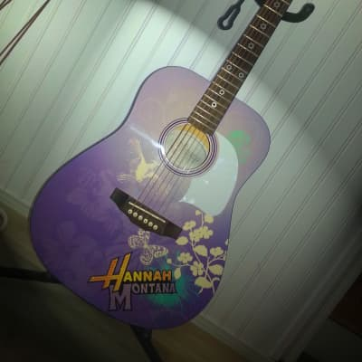 Miley Cyrus - Hannah Montana Purple Acoustic Guitar - Washburn for sale