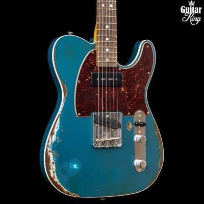 Fender Custom Shop 67 Telecaster P-90 Heavy Relic Bound Ocean Turquoise for sale