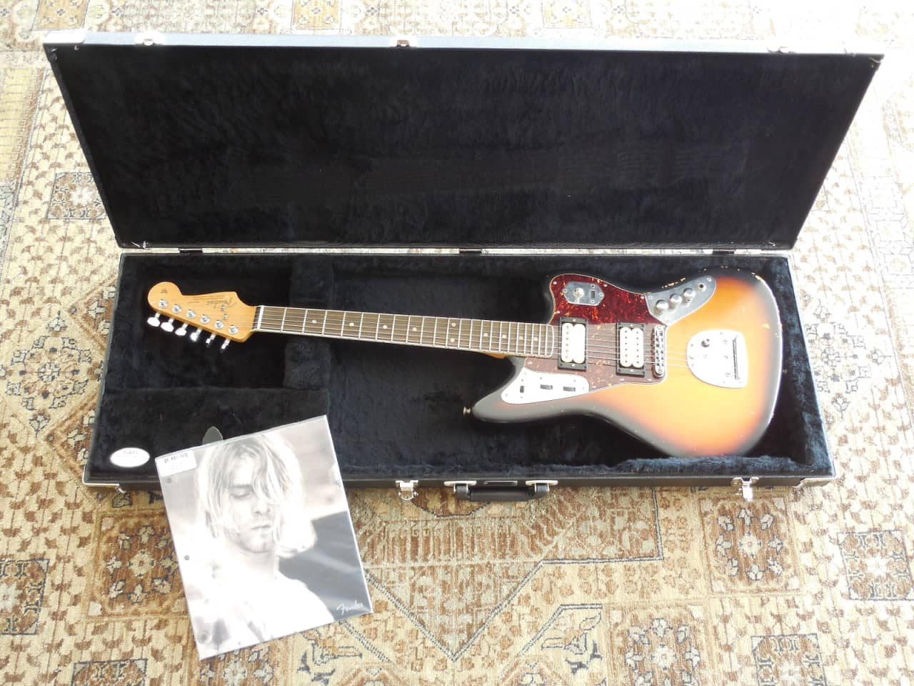 fender kurt cobain road worn jaguar 2014 sunburst w reverb. Black Bedroom Furniture Sets. Home Design Ideas