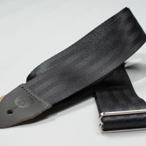 Reverb Seatbelt Guitar Strap - Black -Made in the USA