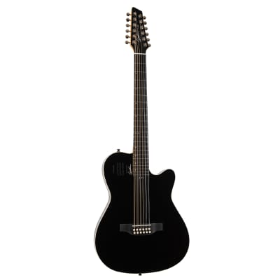 Godin 048588 A12 HG 12-String RH Acoustic Electric Guitar with Gigbag-Black for sale
