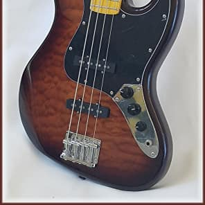 Dillion Professional Jazz bass with quilt maple top ( Rosewood OR Maple FB ) for sale