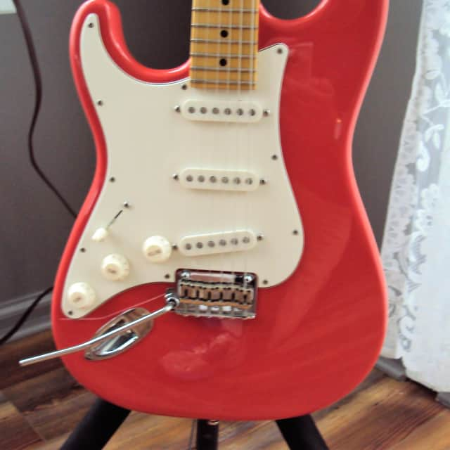 Left Handed Suhr Classic Pro S  Fiesta Red Lefty Mint! image