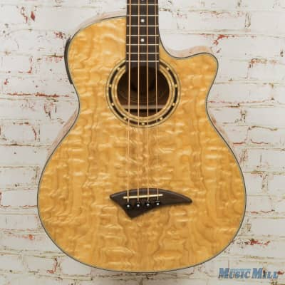 2011 Dean Exotica Quilted Ash Bass Acoustic-Electric Bass (USED) for sale