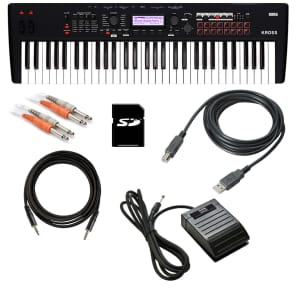 Korg Kross 2 61 Music Workstation - Matte Black CABLE KIT