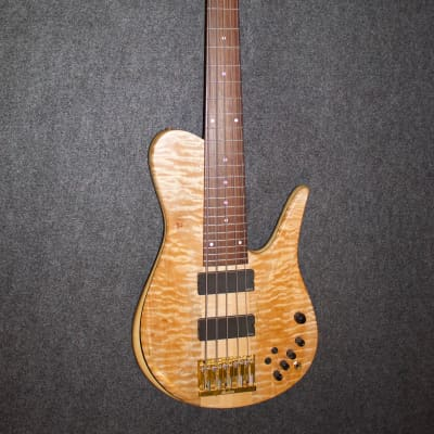 Fodera matt Garrison model quilted maple 5 string bass for sale