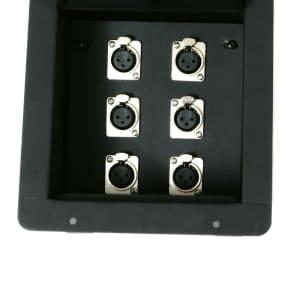 Elite Core Audio FB6 Recessed Floor Box with 6 XLR Female Connectors