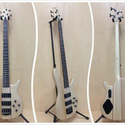 Haze B-327N 4-String Neck-thru Electric Bass Guitar Natural w/Free gig bag,Strap for sale