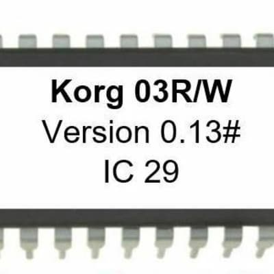 Korg 03R/W - Version 0.13 Firmware OS Upgrade Eprom Update for 03RW