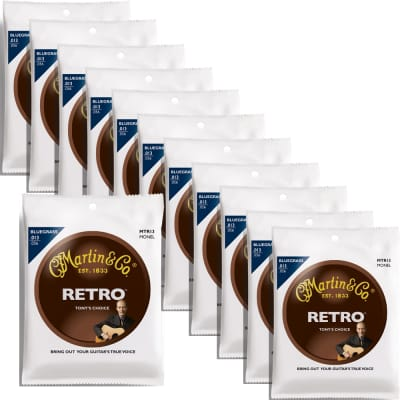 12 Sets of Martin MTR13 Tony Rice Signature Bluegrass Retro Acoustic Guitar Strings (13-56) image