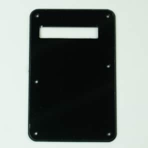 Replacement Strat Style Cavity Cover Tremolo Back Plate ,3ply Black