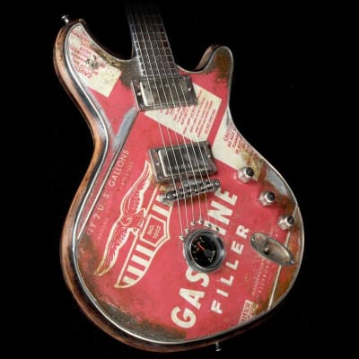 McSwain Gasoline SM-2 Electric Guitar Oil Can Graphics for sale