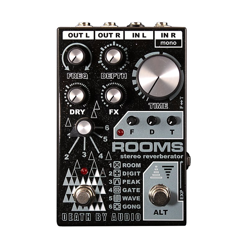 Death By Audio DBA Rooms Stereo Reverb Effects Pedal