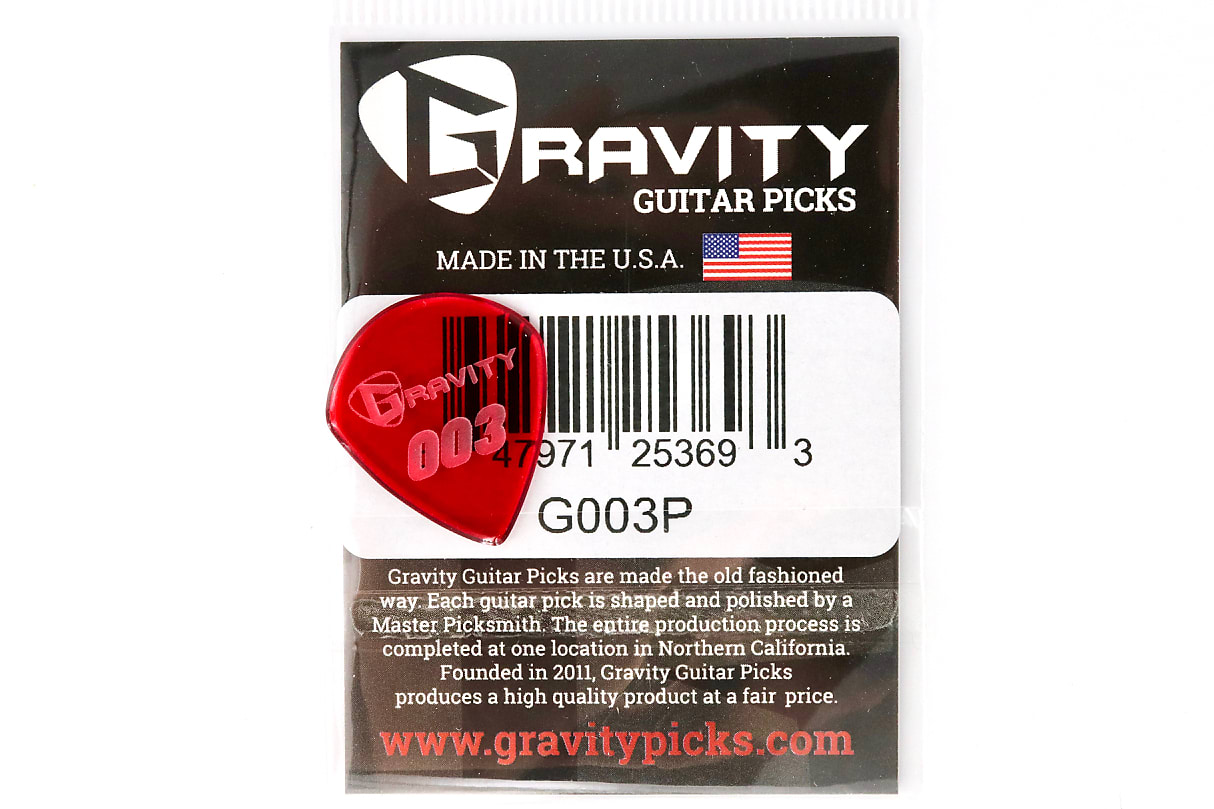 "Gravity Picks ""003"" J3 Replica 1.5mm Red"