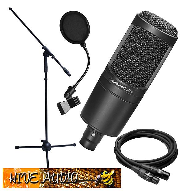 audio technica at2020 recording condenser mic w stand reverb. Black Bedroom Furniture Sets. Home Design Ideas