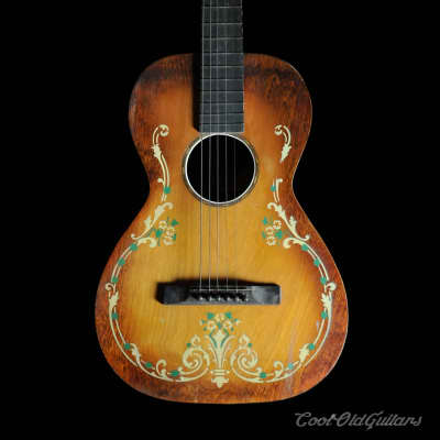 1930s Regal / Stromberg-Voisinet Ornate Parlor Guitar for sale