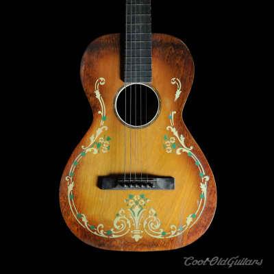 1930s Regal / Stromberg-Voisinet Ornate Stencil Parlor Guitar for sale