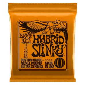 ERNIE BALL HYBRID SLINKY NICKEL WOUND ELECTRIC GUITAR STRINGS for sale