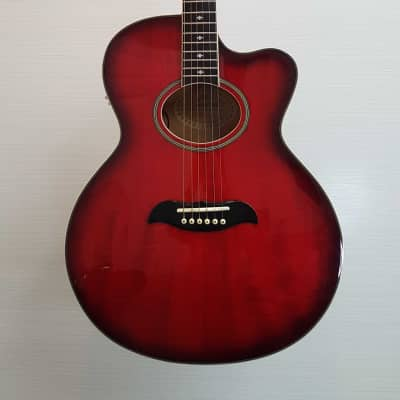 Aria Korea Pro2 FET DLX Acoustic Guitar +Hard Case (V.G.+) for sale