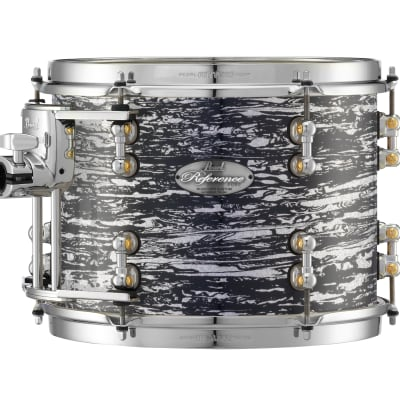 """Pearl Music City Custom 8""""x7"""" Reference Pure Series Tom Drum RFP0807T - Black Oyster Glitter"""