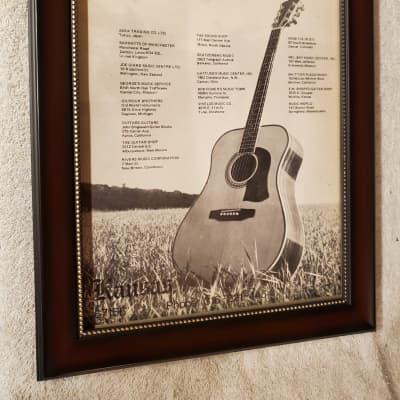 1974 Mossman Acoustic Guitars Promotional Ad Framed Golden Era Flattop Original