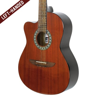 Lindo Left Handed 931C  Mahogany Top Acoustic Guitar with Free Carry Case for sale