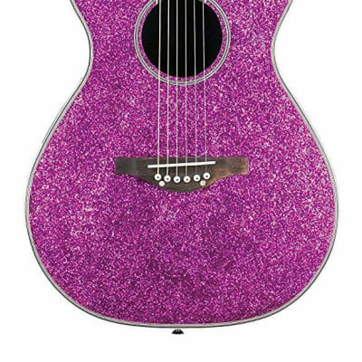 Daisy Rock DR6225  Pixie Acoustic Electric Guitar - Pink Sparkle for sale