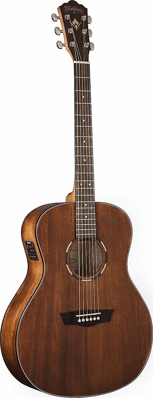 Washburn Woodline O12SE Orchestra Acoustic Electric Guitar Natural