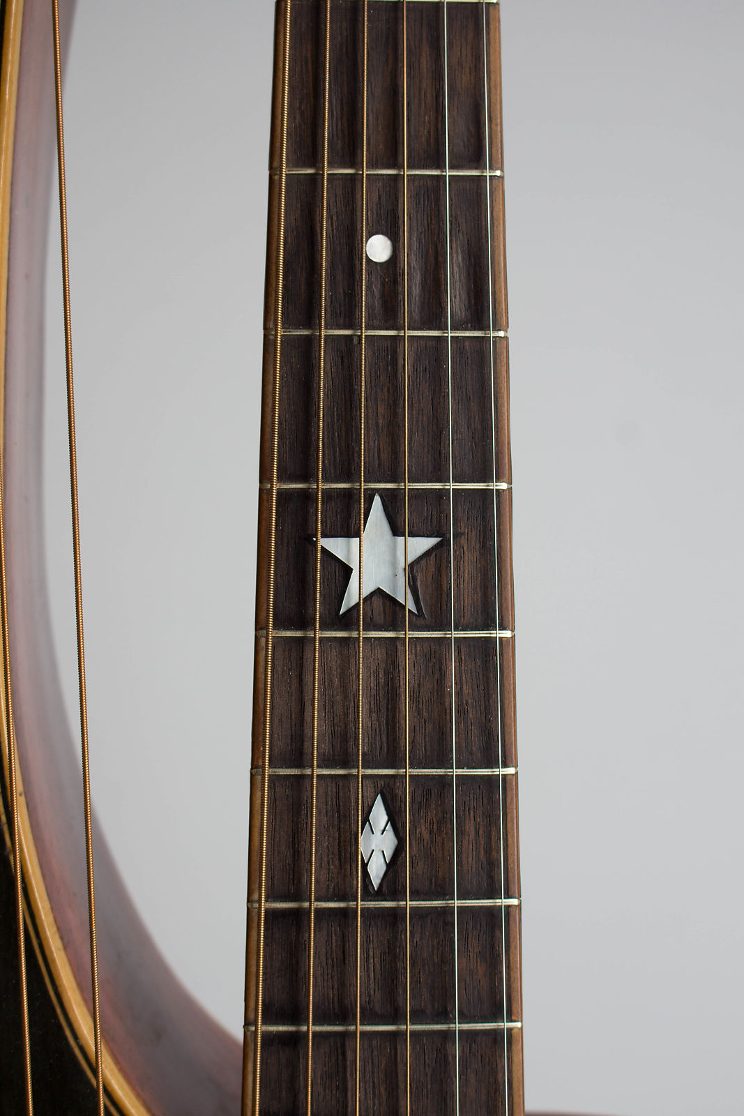 Knutsen Jumbo 11 String Model Harp Guitar c. 1912 w/Orig. Hard Shell Case